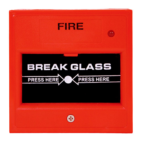 Fire alarm break glass