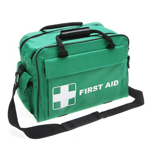 Green first aid kit bag