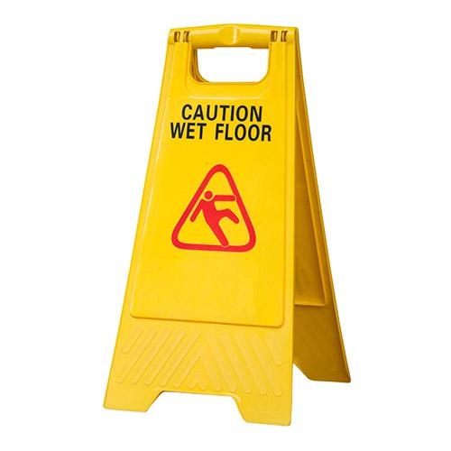Caution wet floor sign